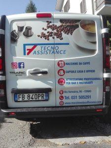 decorazione furgone tecnoassistance bekreativ cantu como