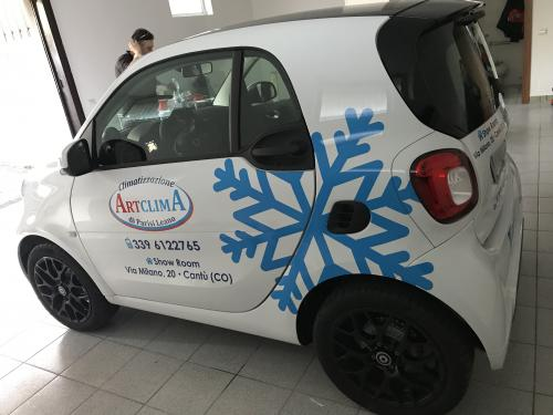 Decorazione auto smart Artclima Leano 1