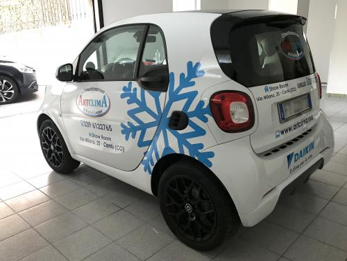 Decorazione auto smart Artclima Leano 2
