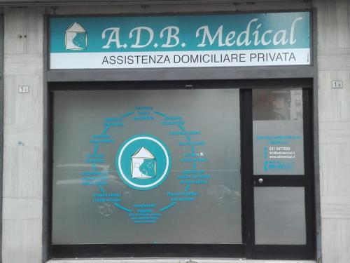Negozio ADB Medical Insegna e vetrofania