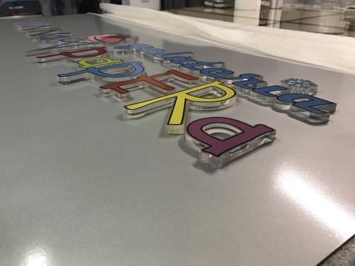 Insegna a pannello Nonna Papera con lettere pantografate in plexiglass 4
