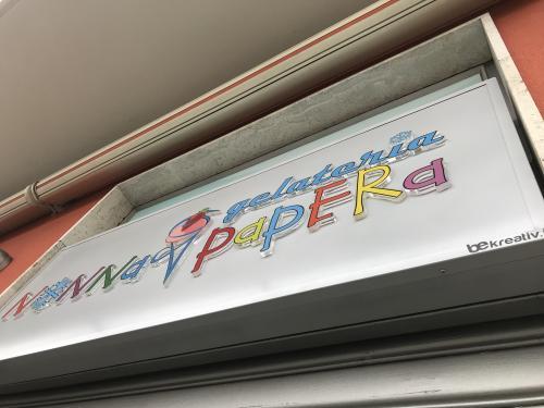 Insegna a pannello Nonna Papera con lettere pantografate in plexiglass 7