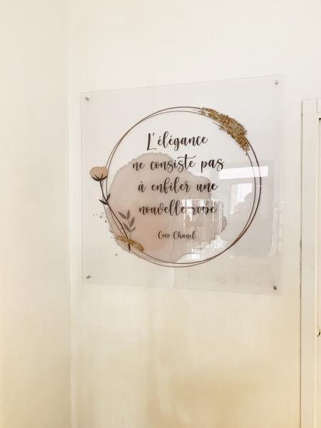 Interior design pannello decorativo in plexiglass vendome