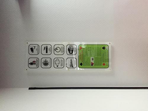 Interior design pannello in plexiglass touch game 1