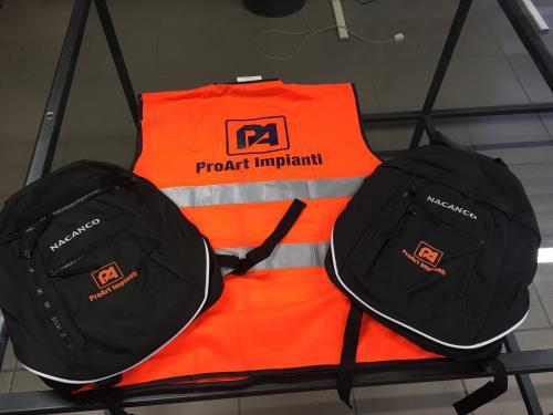Abbigliamento da lavoro personalizzato ProArt Impianti 1
